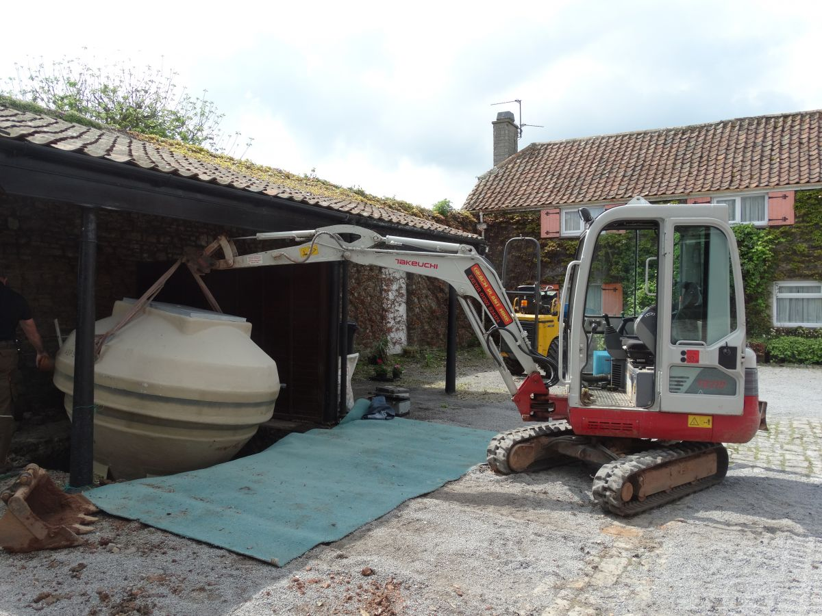Claverham Cottage | Sewage Treatment Plant Installation | Bristol