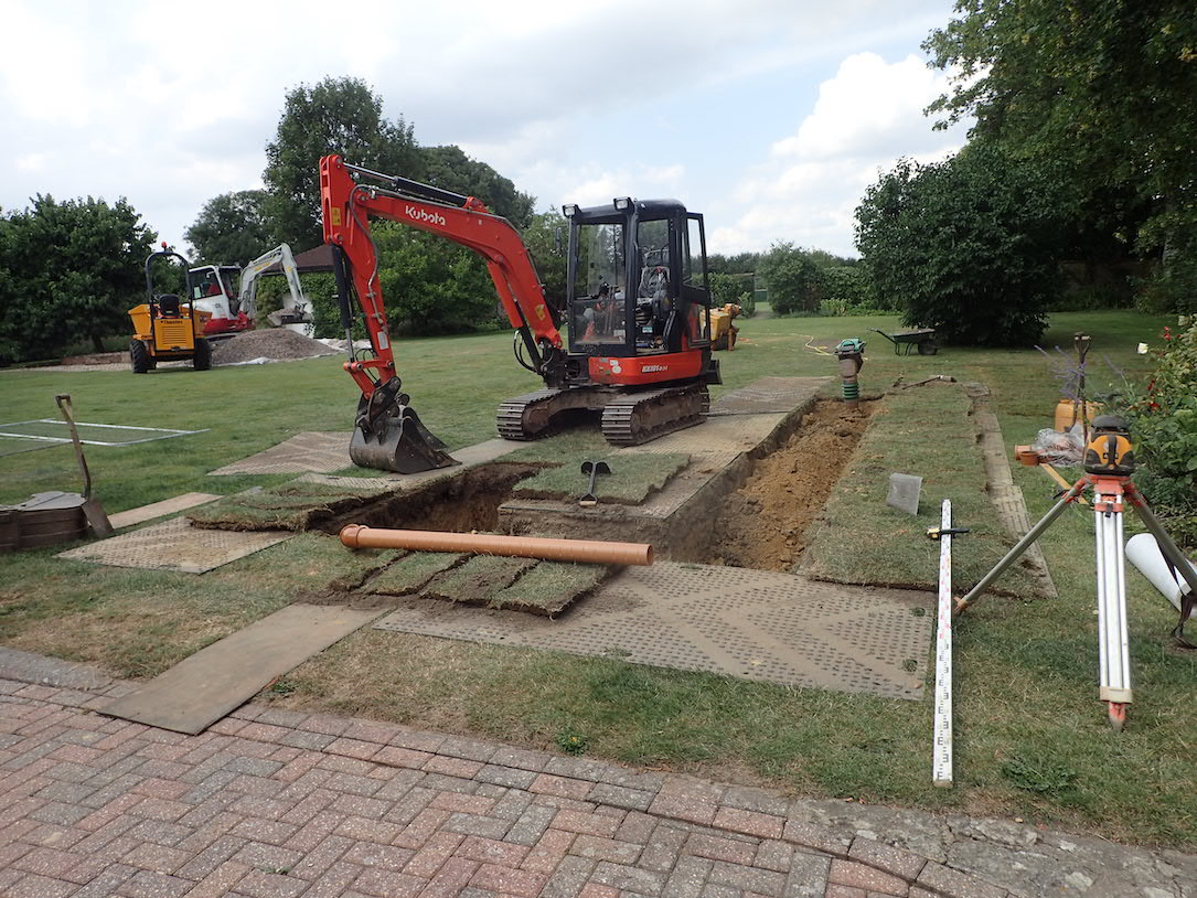 Drainage Field Installation